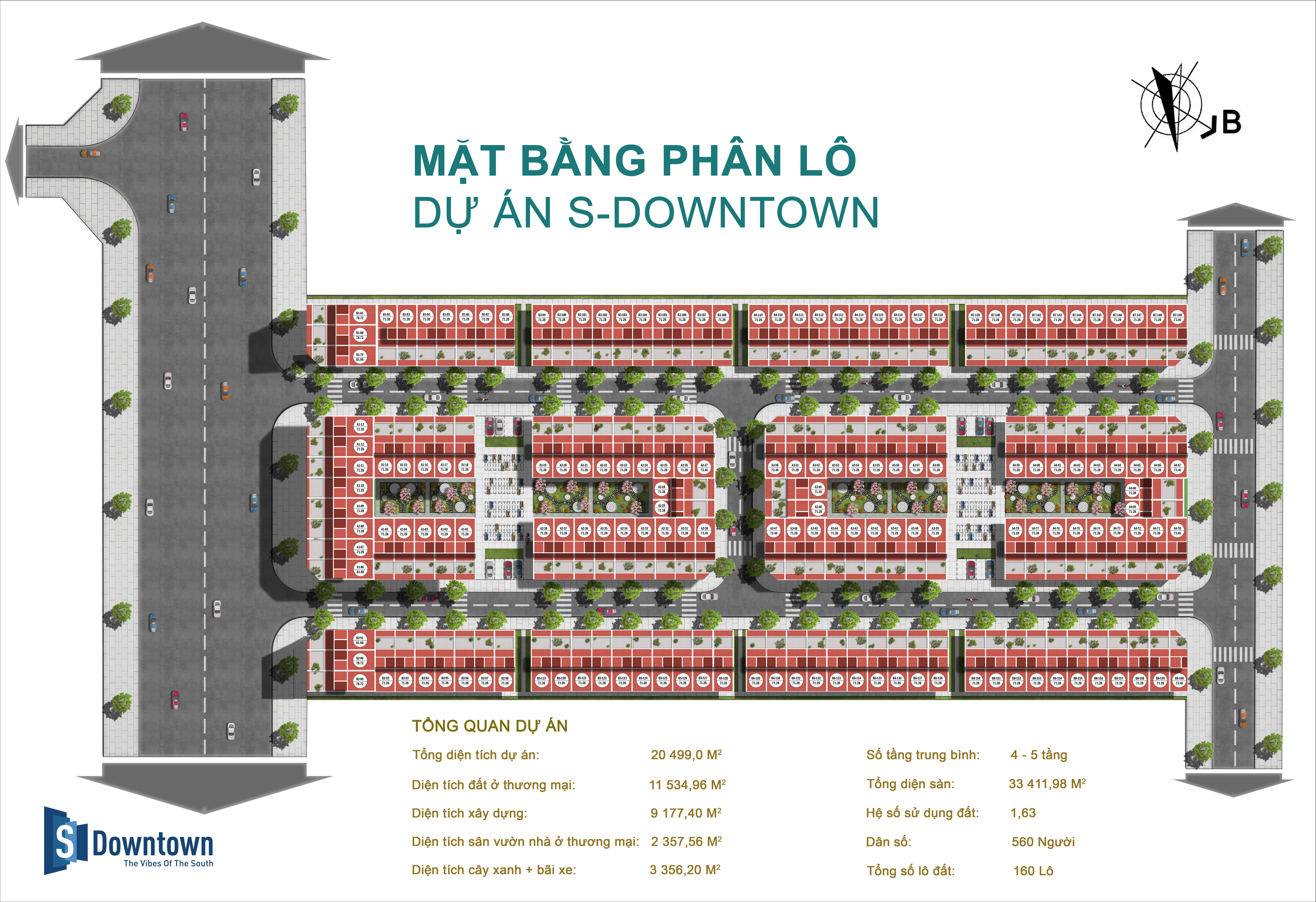 Mặt bằng phân lô dự án S-Downtown Thanh Trì