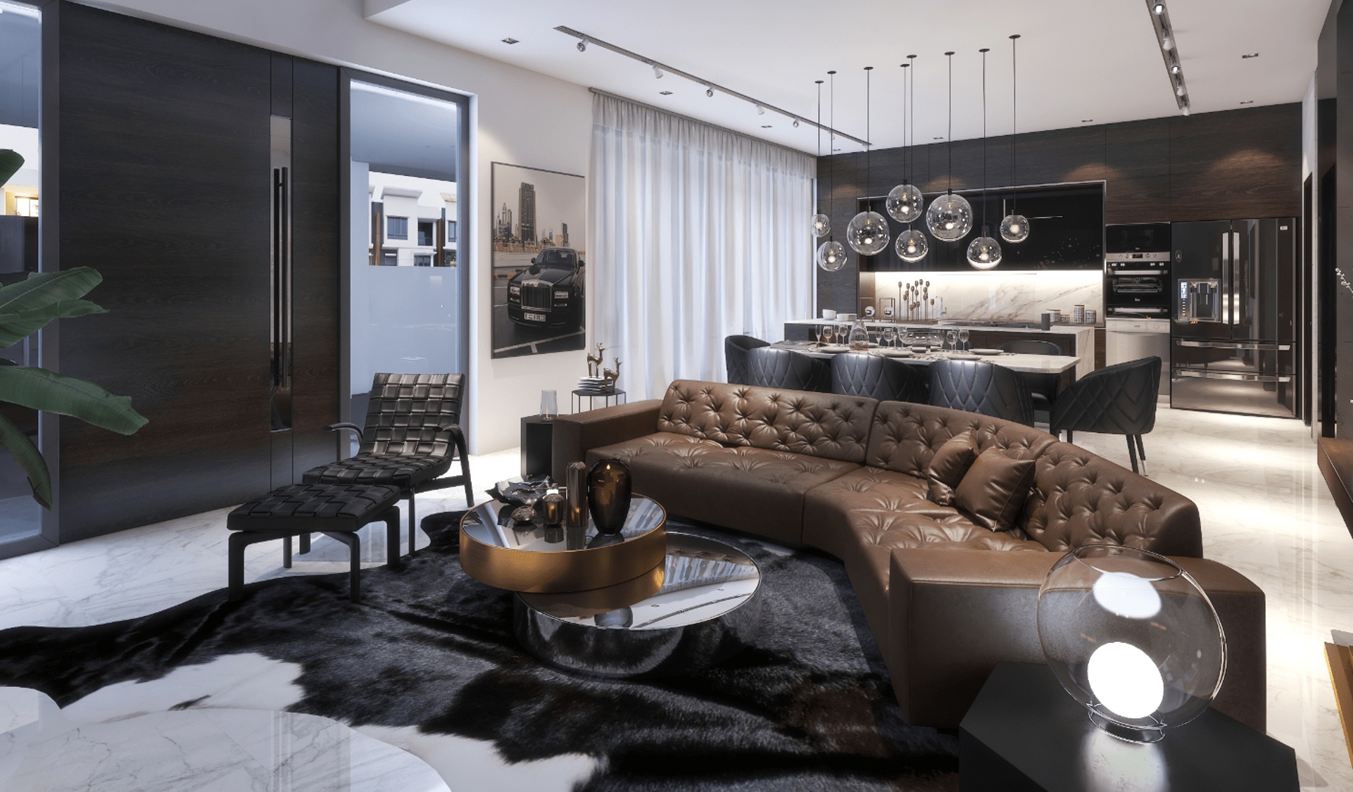 Thiết kế căn hộ mẫu Phòng khách