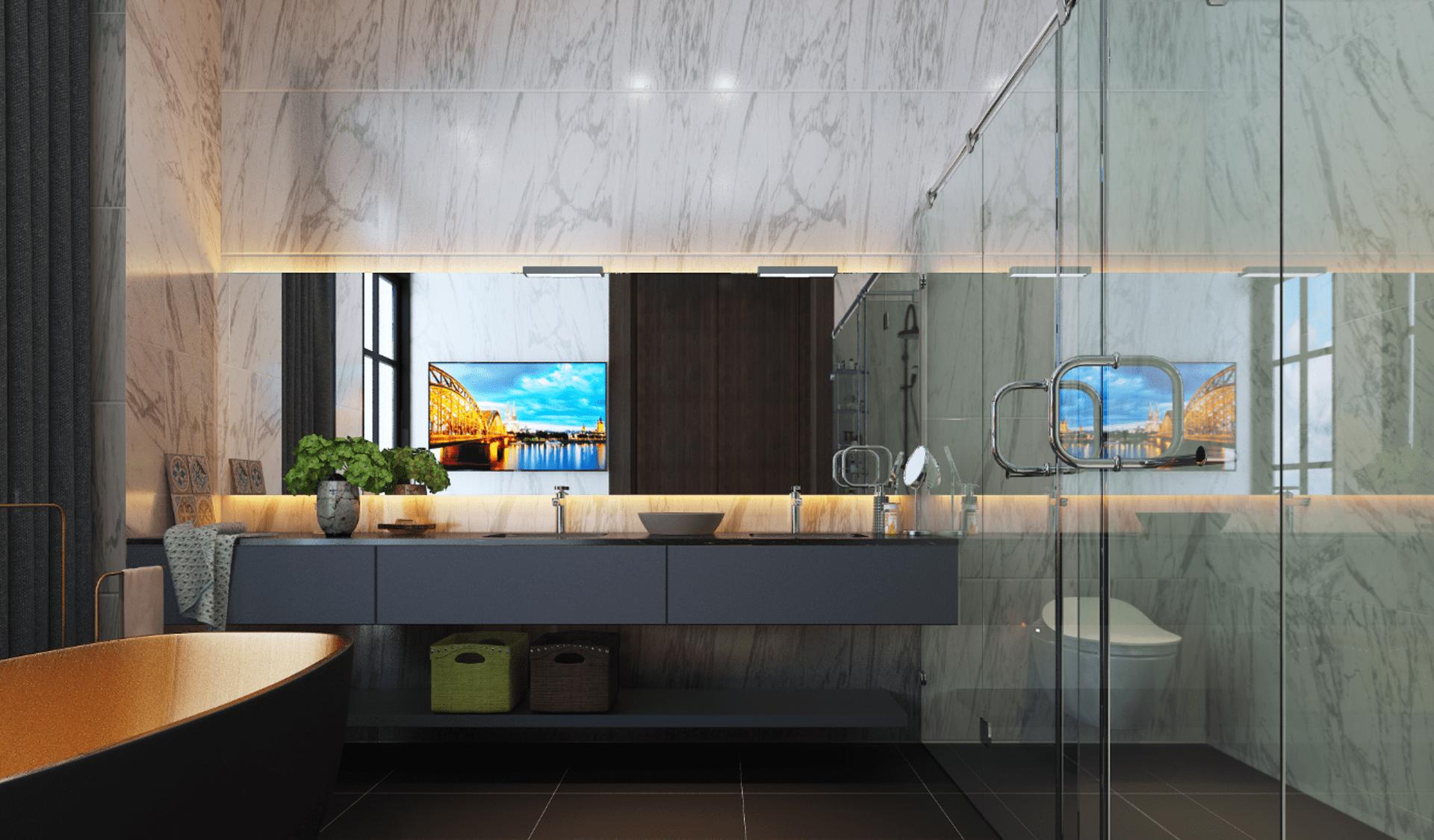 Thiết kế căn hộ mẫu Phòng tắm