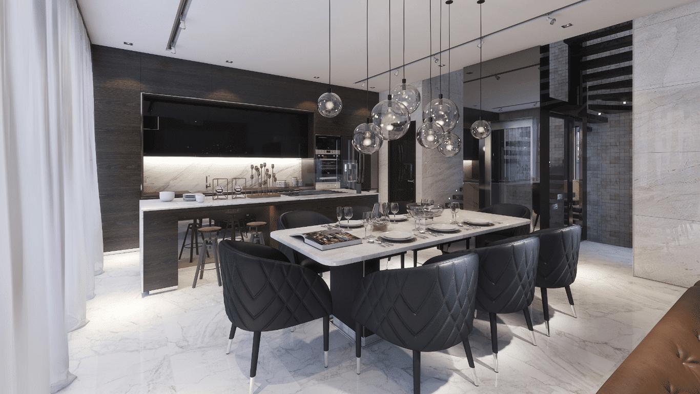 Thiết kế căn hộ mẫu Phòng ăn
