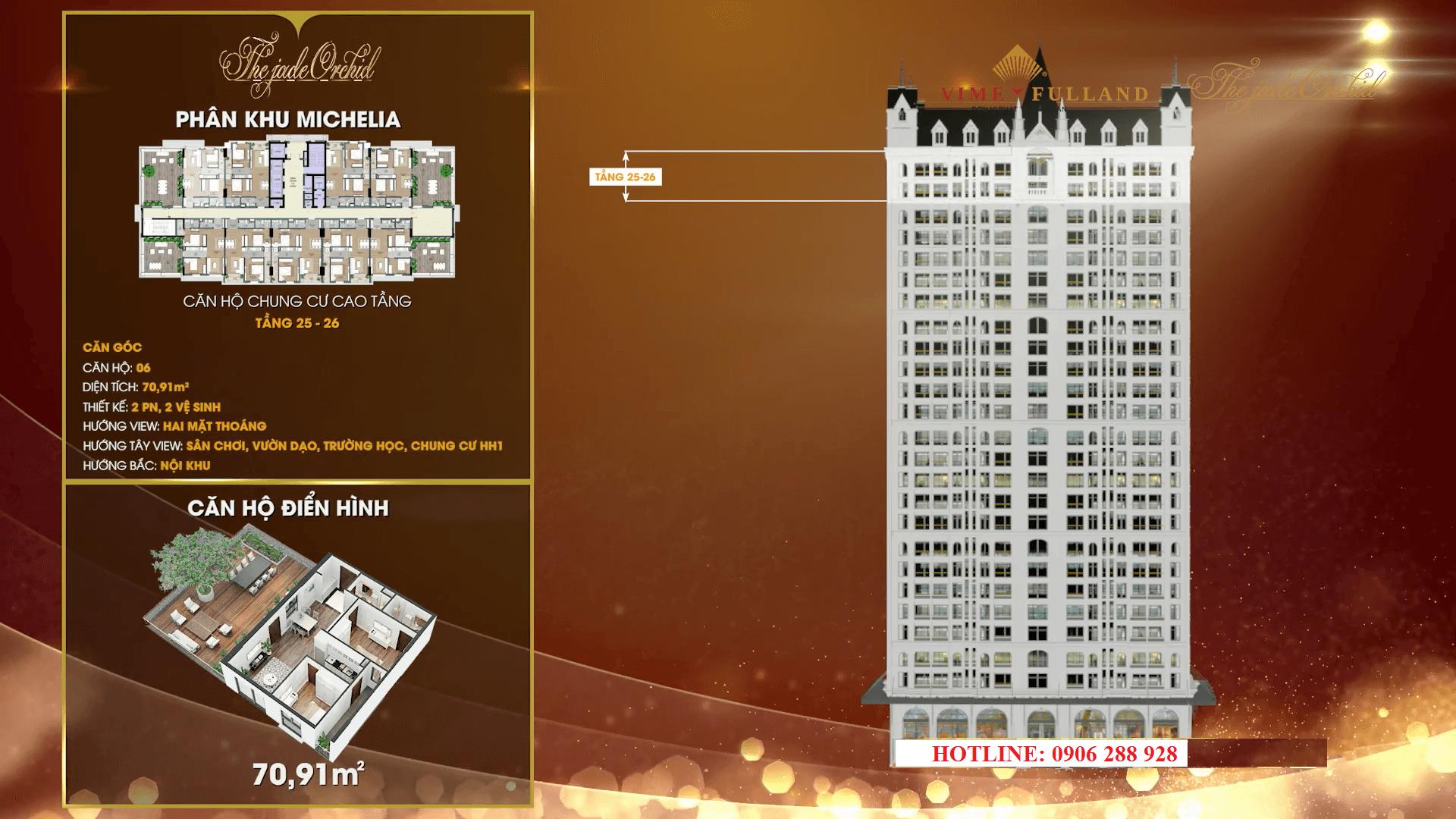 Thiết kế căn hộ 06 tầng 25 - 26
