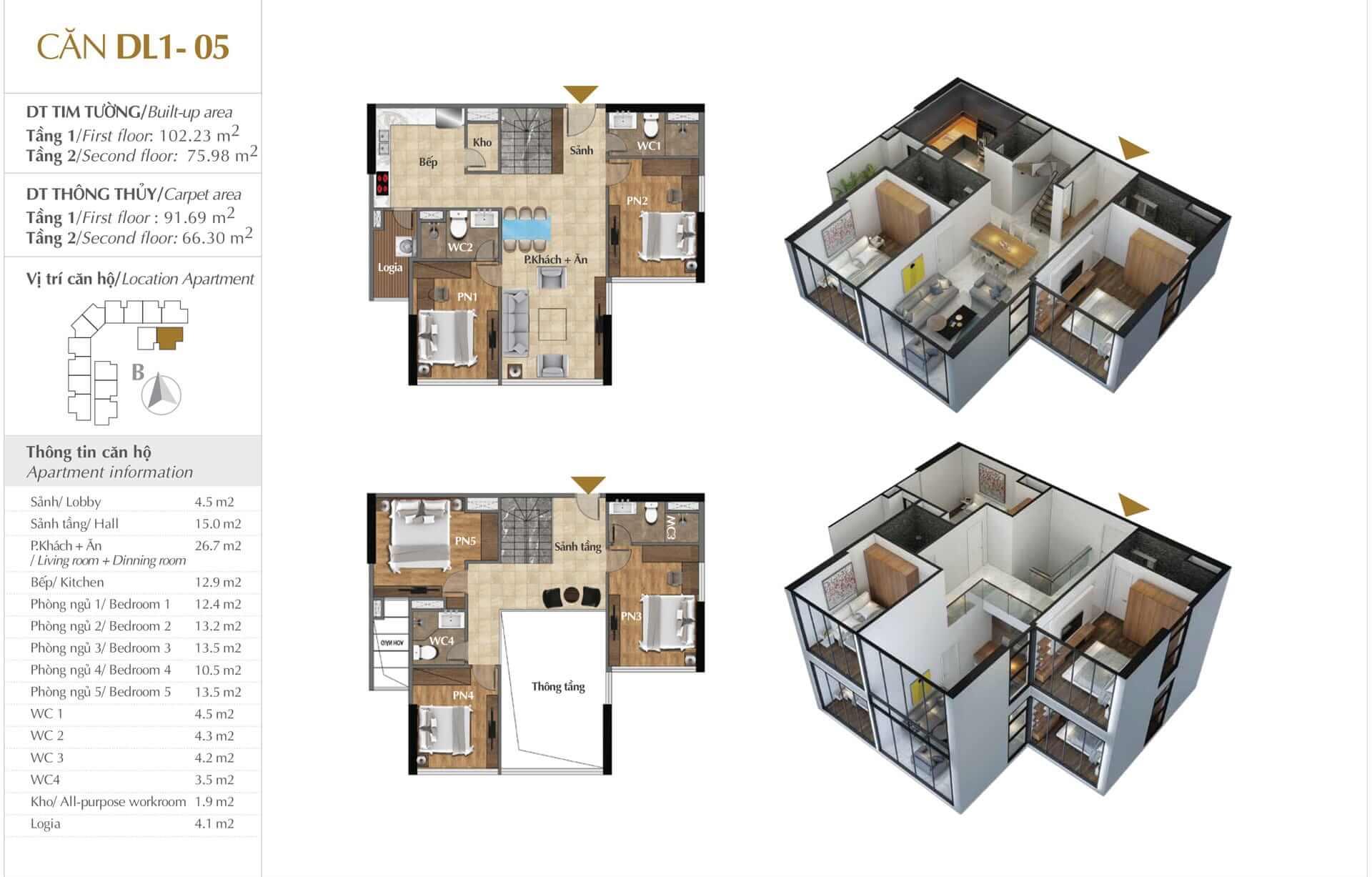 Thiết kế căn DL1 - 05