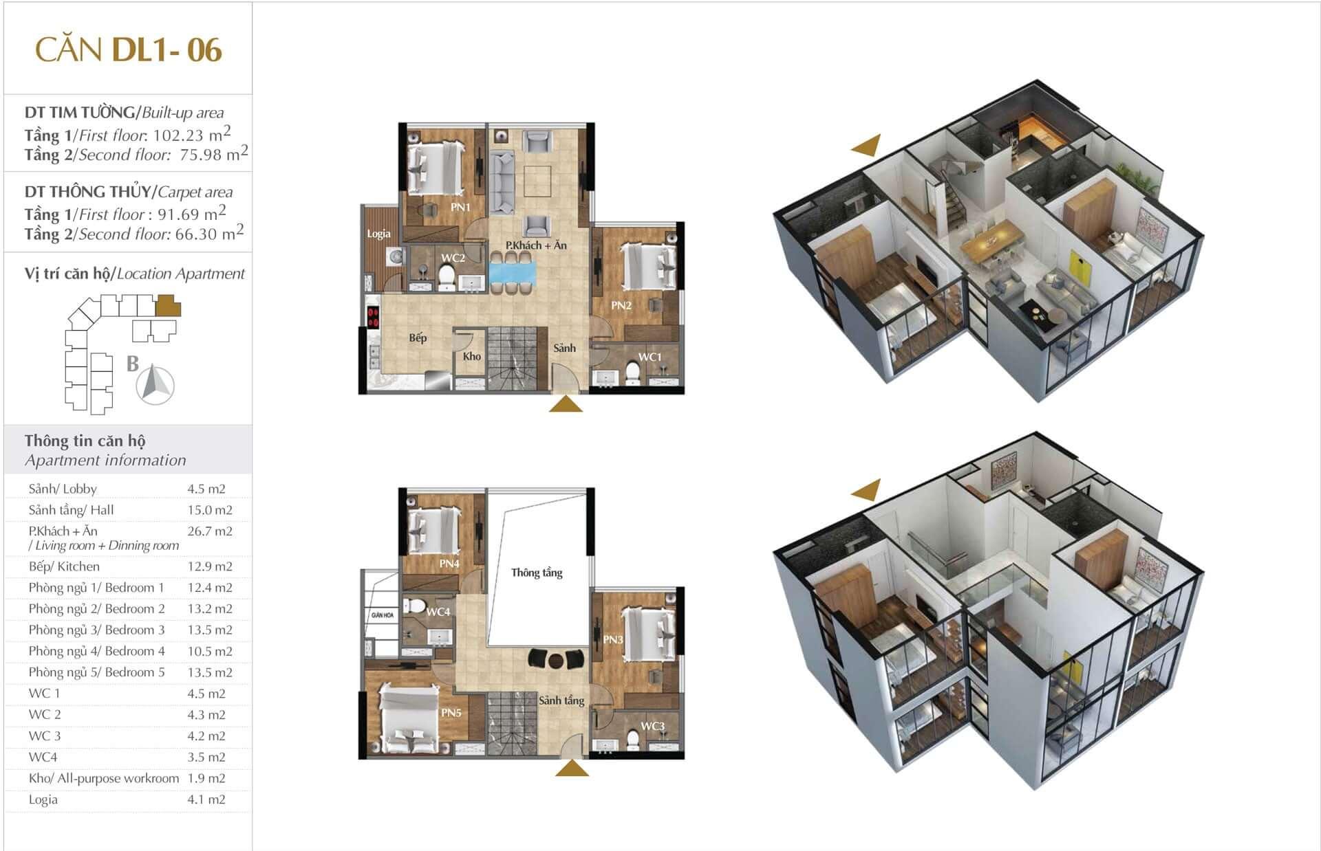Thiết kế căn DL1 - 06