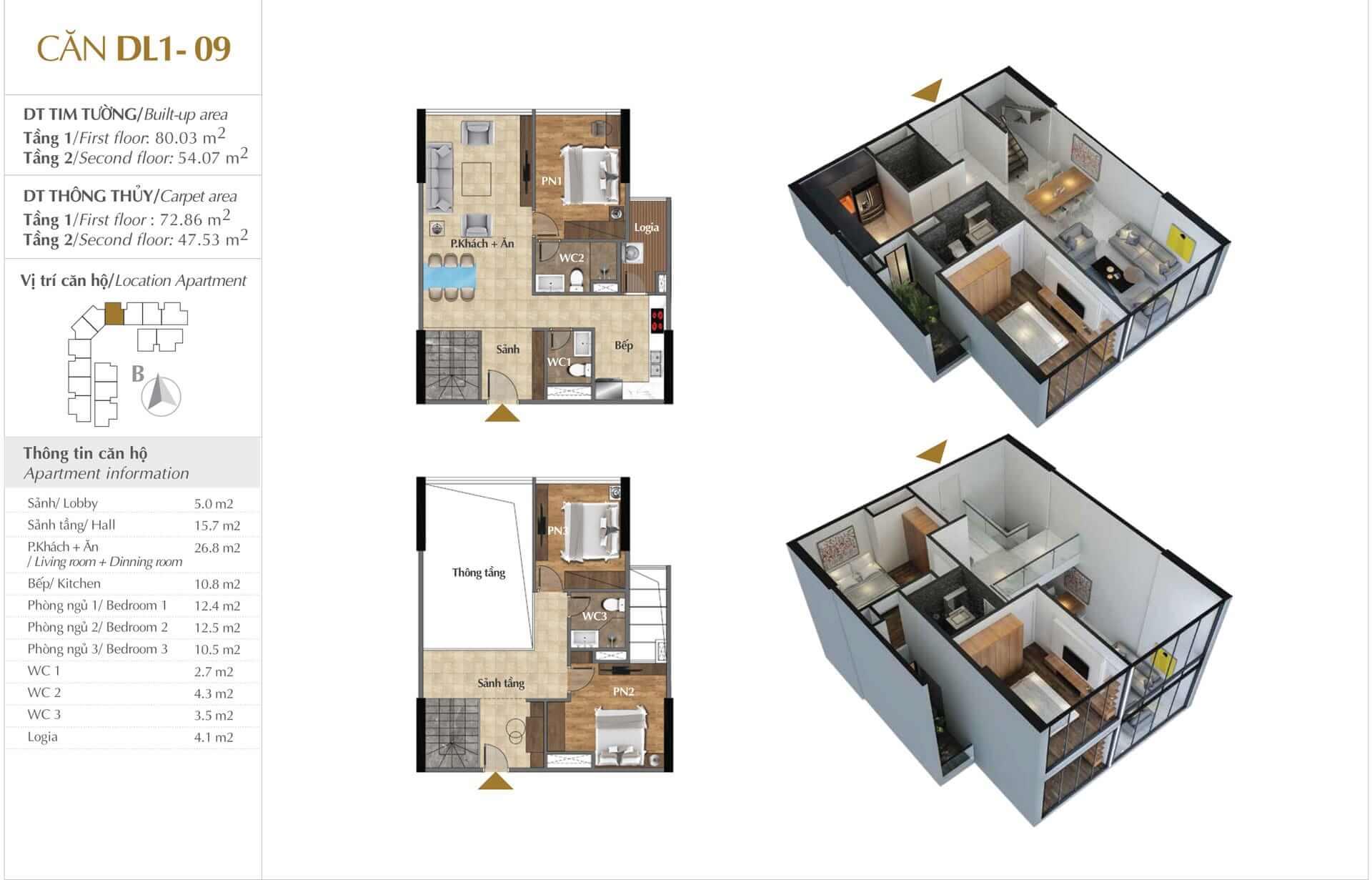 Thiết kế căn DL1 - 09