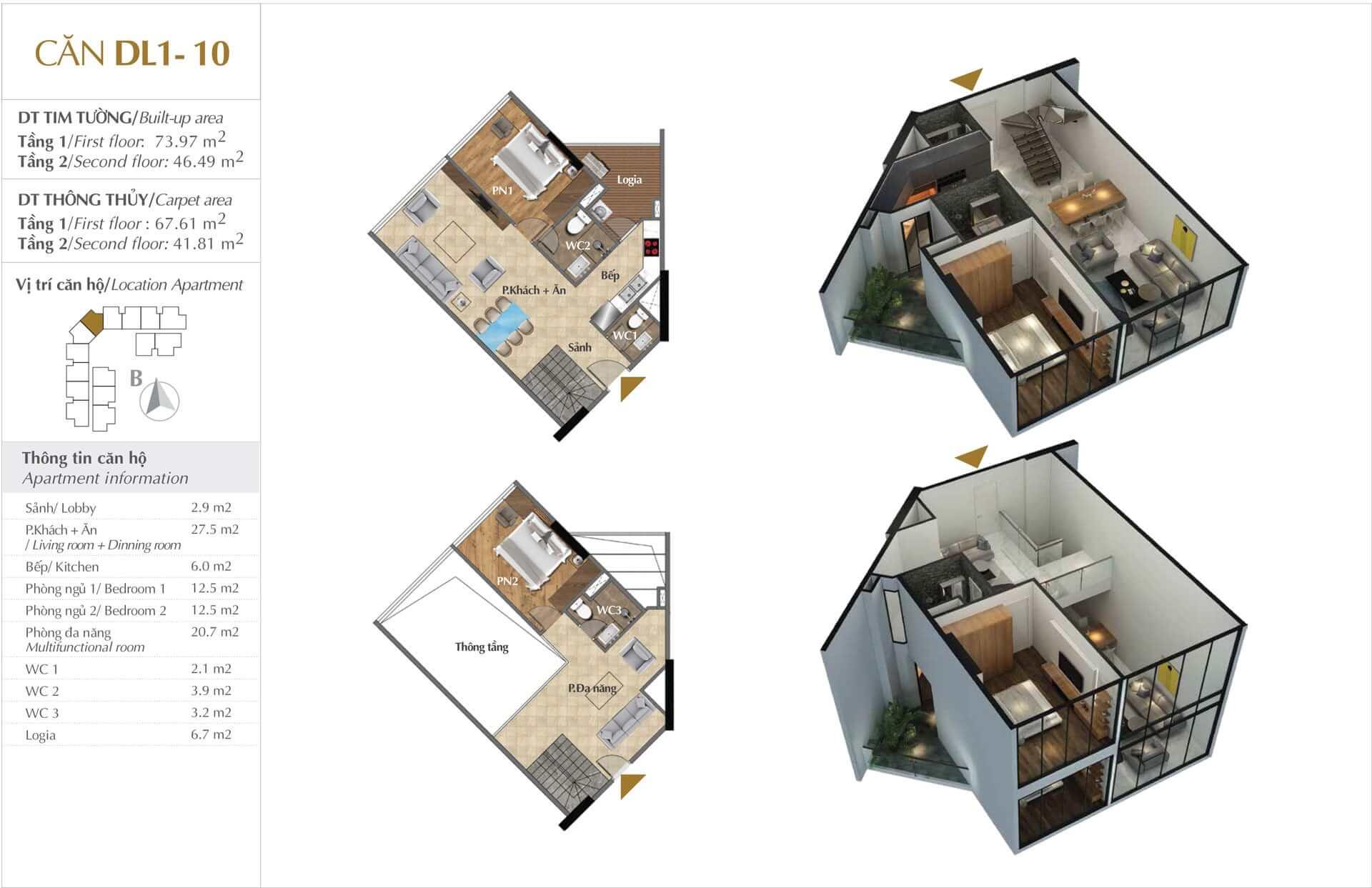 Thiết kế căn DL1 - 10