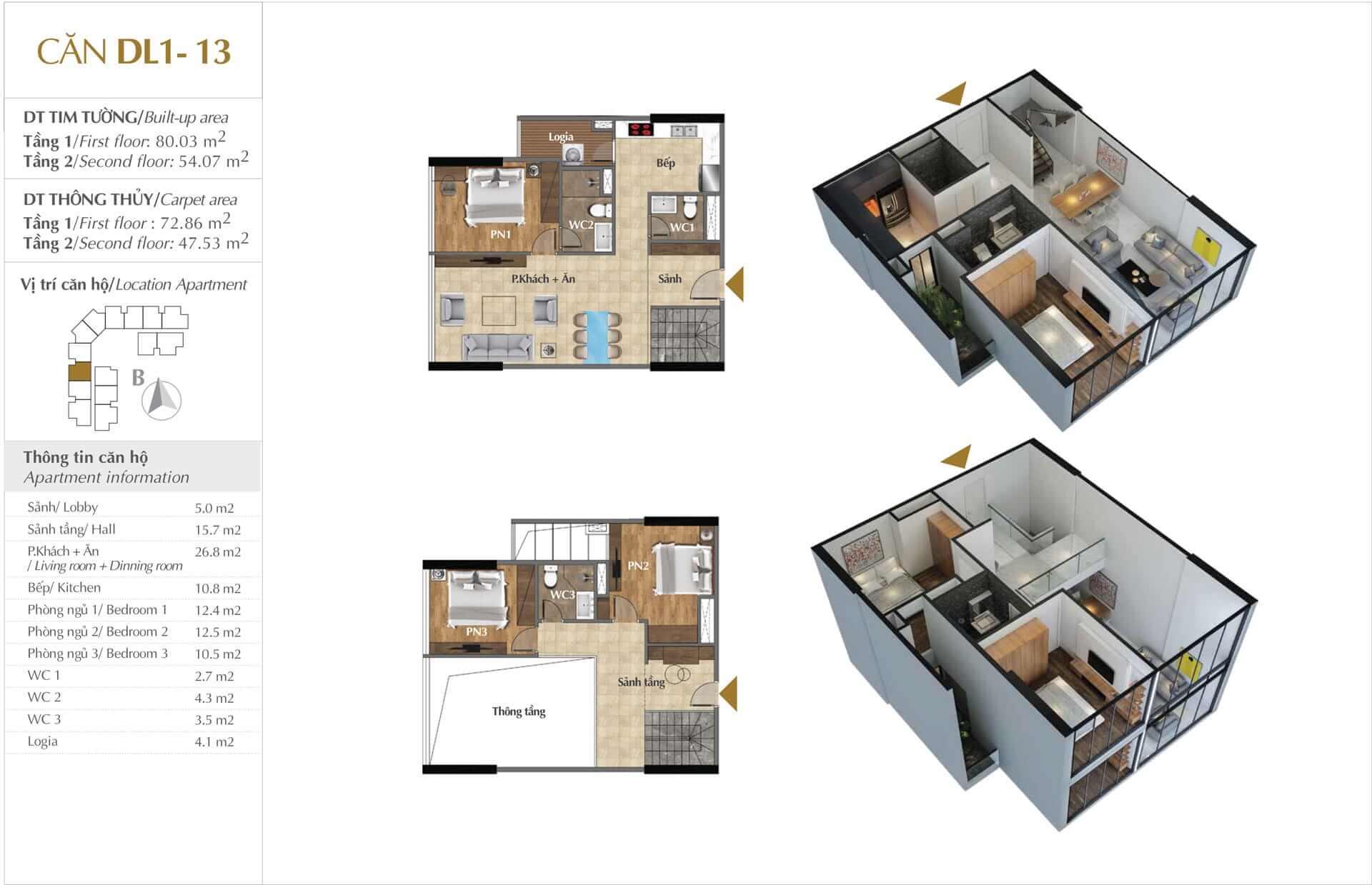 Thiết kế căn DL1 - 13