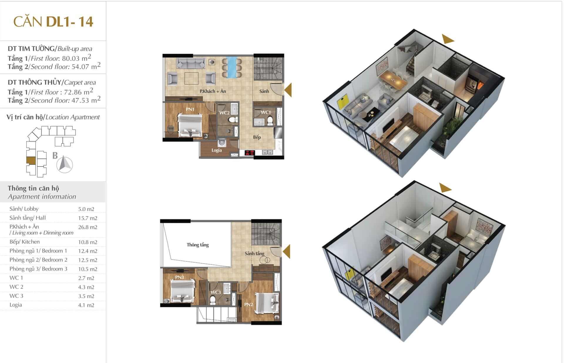 Thiết kế căn DL1 - 14