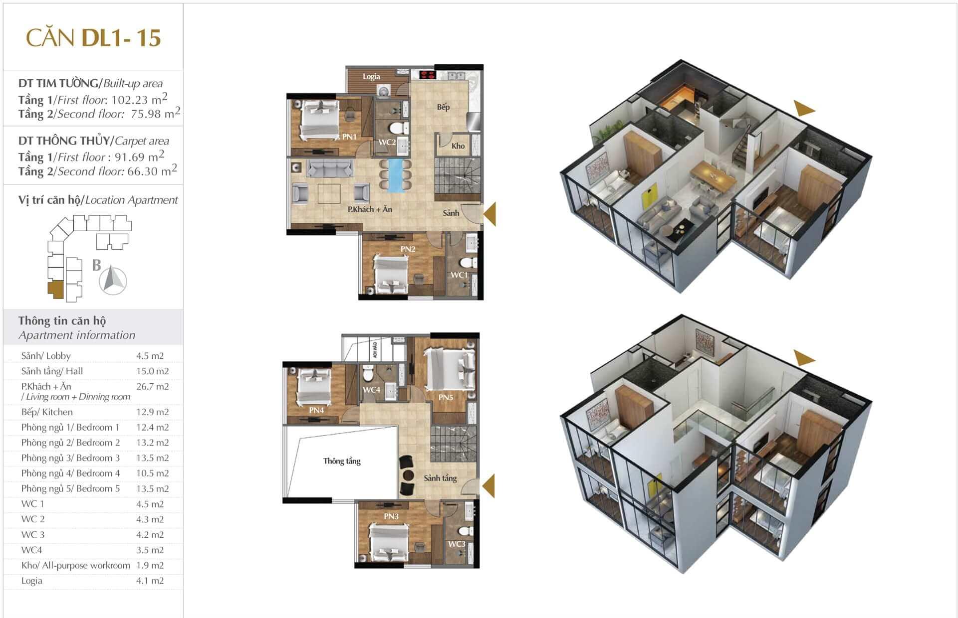 Thiết kế căn DL1 - 15