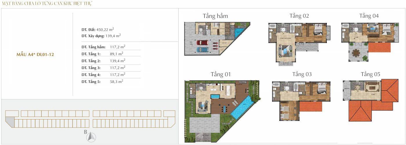 Thiết kế biệt thự Đơn lập - Mẫu A4*1.12 Sunshine Crystal River