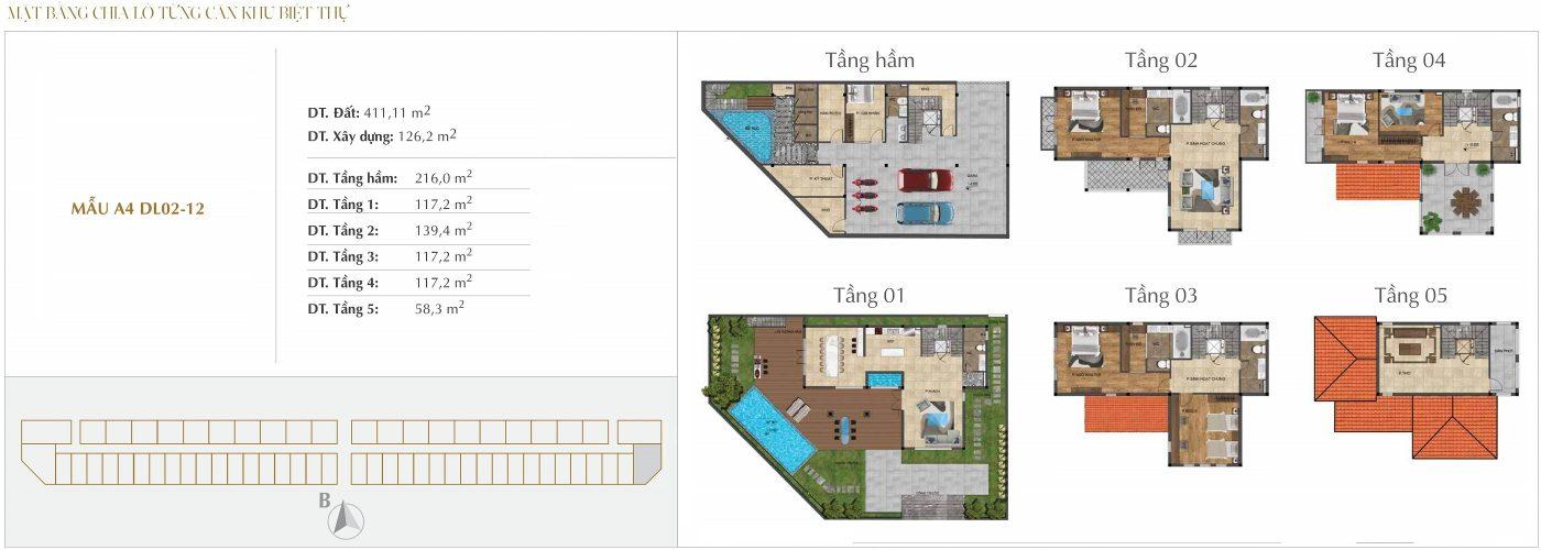 Thiết kế biệt thự Đơn lập - Mẫu A4 - 2.12 Sunshine Crystal River