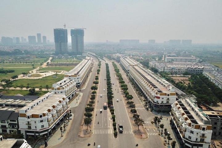 Toàn cảnh dự án Geleximco dọc trục Lê Trọng Tấn