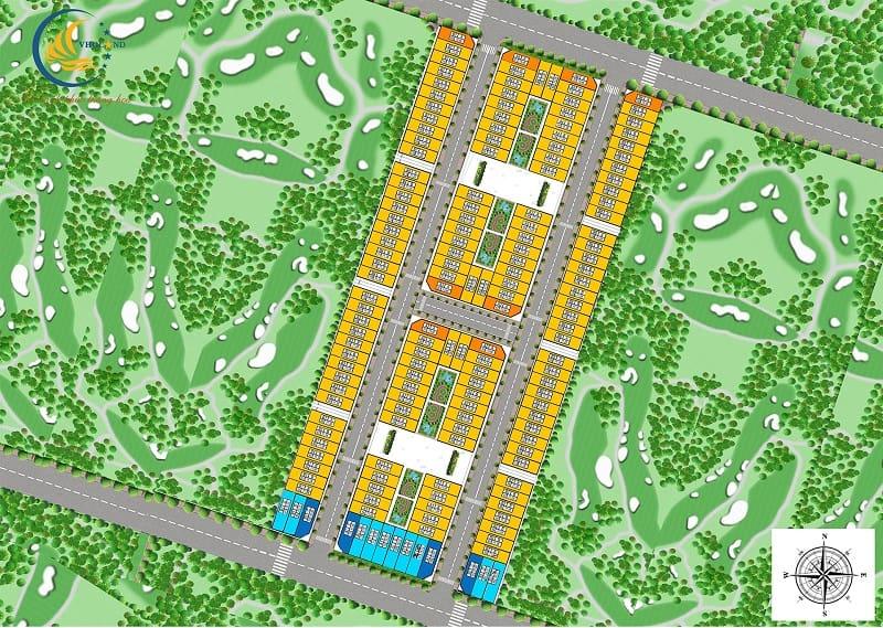 Mặt bằng tổng thể liền kề S Downtown Thanh Trì