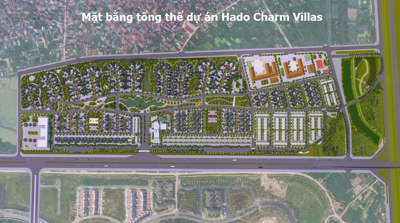 Mặt bằng tổng thể Hà Đô Charm Villas
