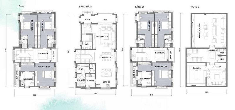 Thiết kế biệt thự Hà Đô Charm Villas