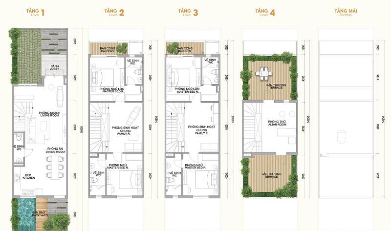Thiết kế Shophouse Hà Đô Charm Villas