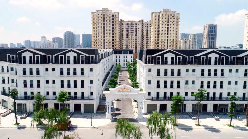 Tổng thể dự án liền kề B4 Nam Trung Yên