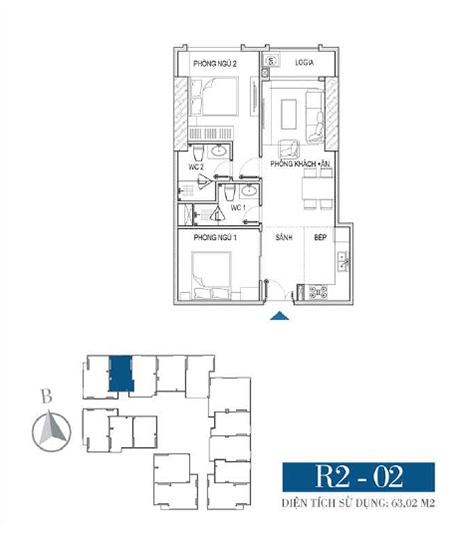 Thiết kế căn hộ R2 - 02