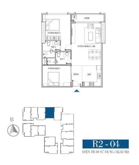 Thiết kế căn hộ R2 - 04