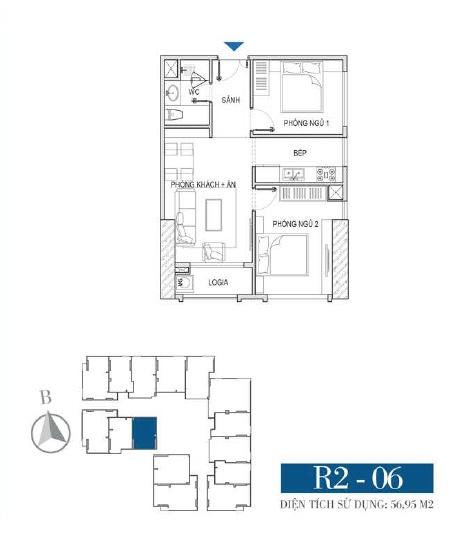 Thiết kế căn hộ R2 - 06