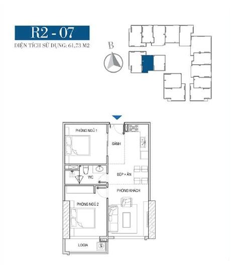 Thiết kế căn hộ R2 - 07