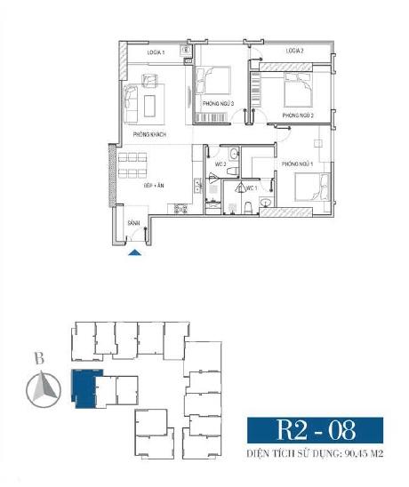 Thiết kế căn hộ R2 - 08