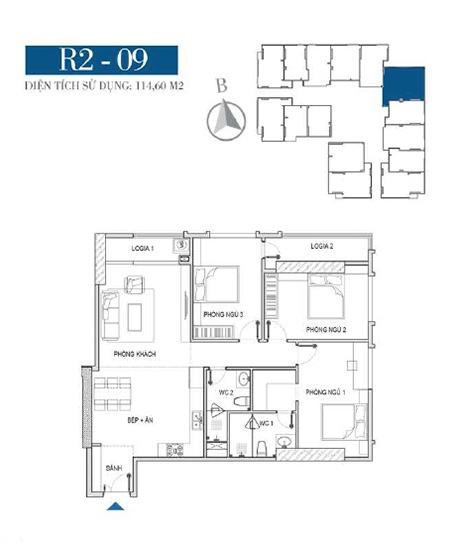 Thiết kế căn hộ R2 - 09