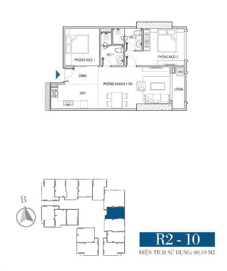 Thiết kế căn hộ R2 - 10
