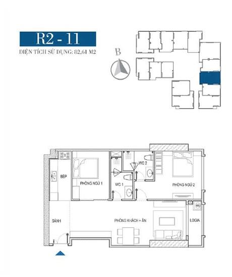 Thiết kế căn hộ R2 - 11