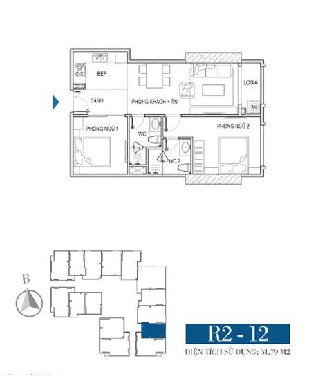 Thiết kế căn hộ R2 - 12