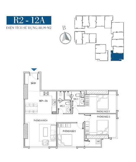 Thiết kế căn hộ R2 - 13