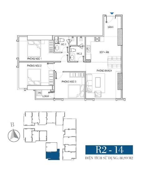 Thiết kế căn hộ R2 - 14