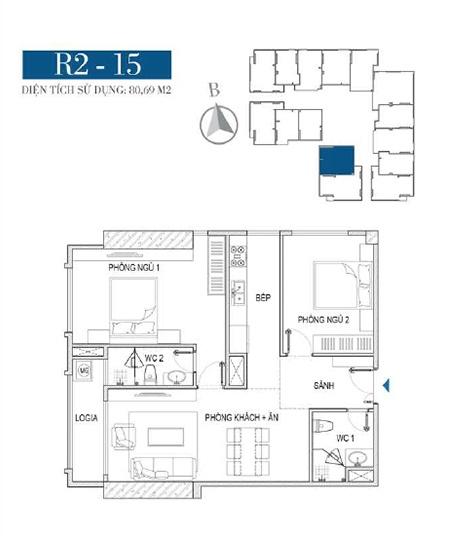 Thiết kế căn hộ R2 - 15