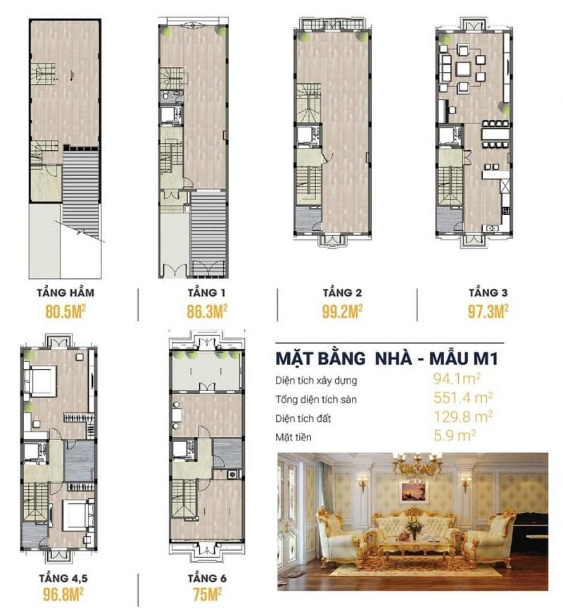 Thiết kế Shophouse Kiến Hưng Hà Đông