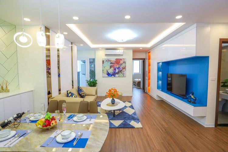 Thiết kế căn hộ mẫu - Phòng kháchchung cư Eurowindow River Park