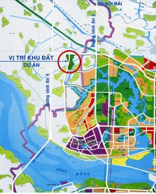 Vị trí dự án Khu đô thị Hà Phong Mê Linh