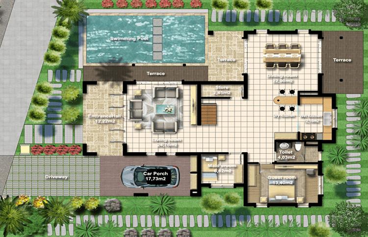 Thiết kế mẫu Beauty Biệt thự Khu đô thị Xanh Villas
