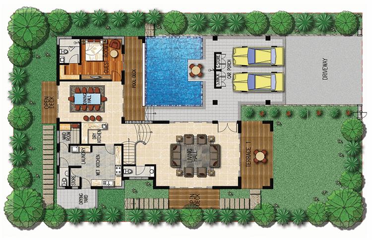 Thiết kế mẫu Elegant Biệt thự Khu đô thị Xanh Villas