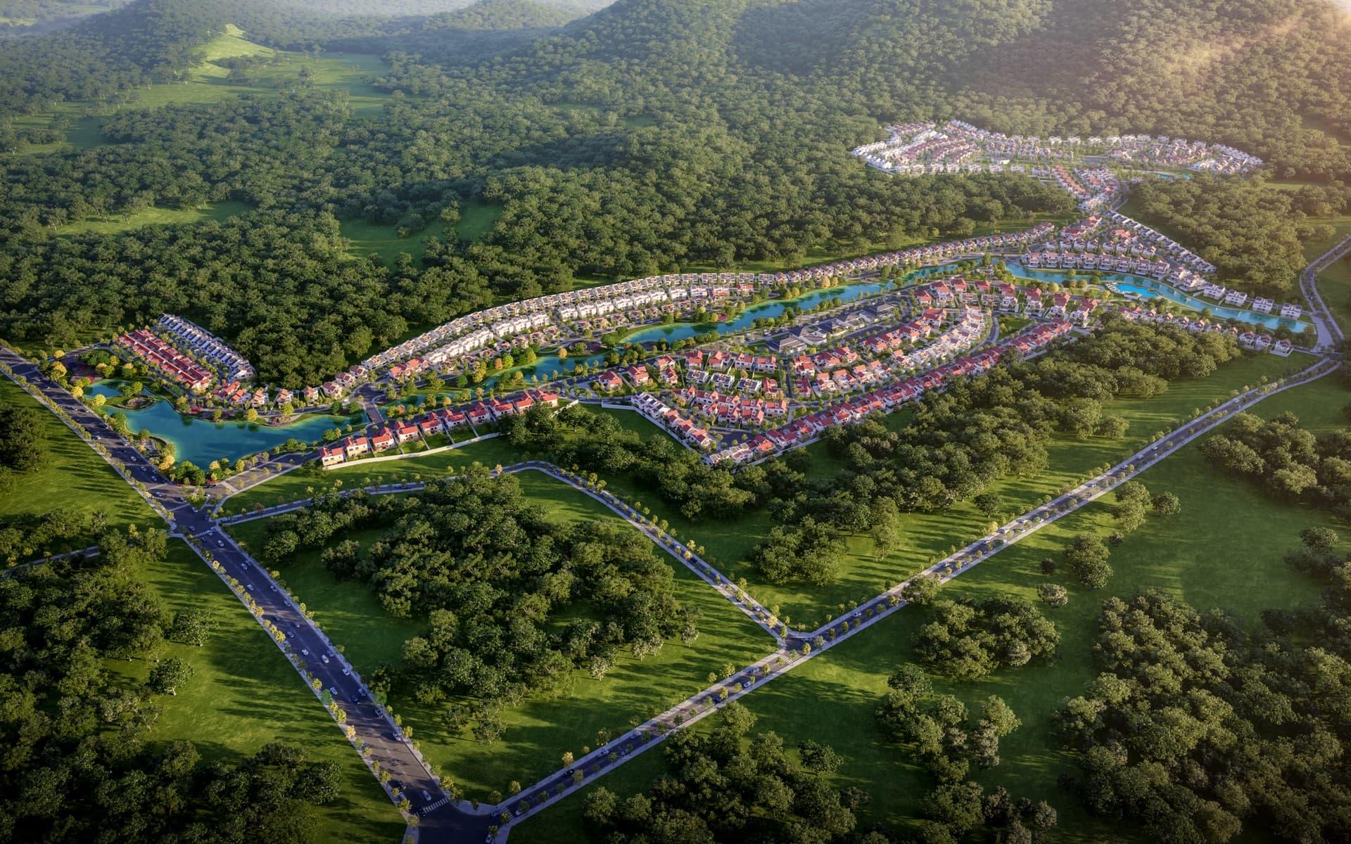 Phối cảnh tổng thể khu đô thị Xanh Villas