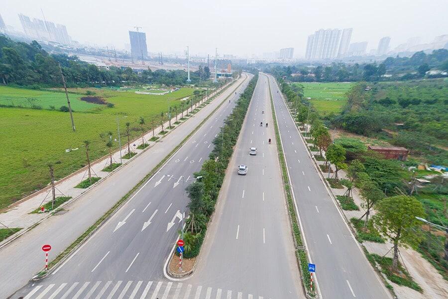 Trục đường Xa la Nguyễn Xiển kết nối Liền kề Shophouse Kiến Hưng Luxury