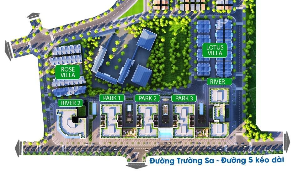 Mặt bằng thiết kế tổng quan dự ánchung cư Eurowindow River Park
