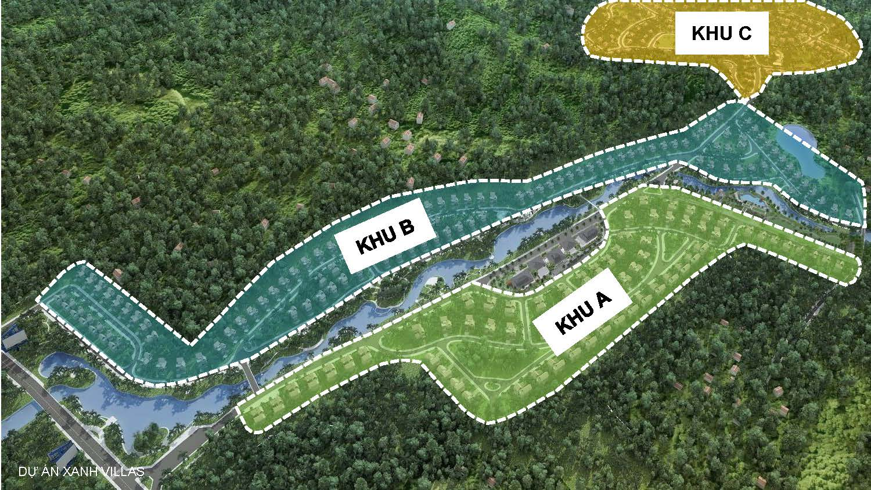 Mặt bằng phân khu dự án Xanh Villas