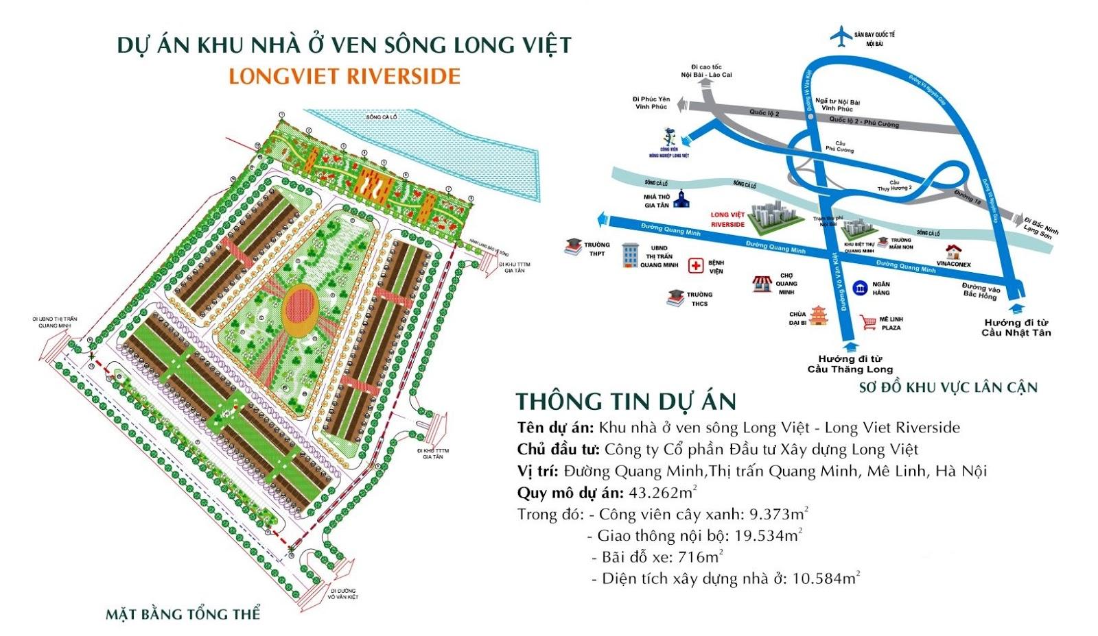 Kết nối hạ tầng tiện ích Khu đô thị Long Việt Riverside