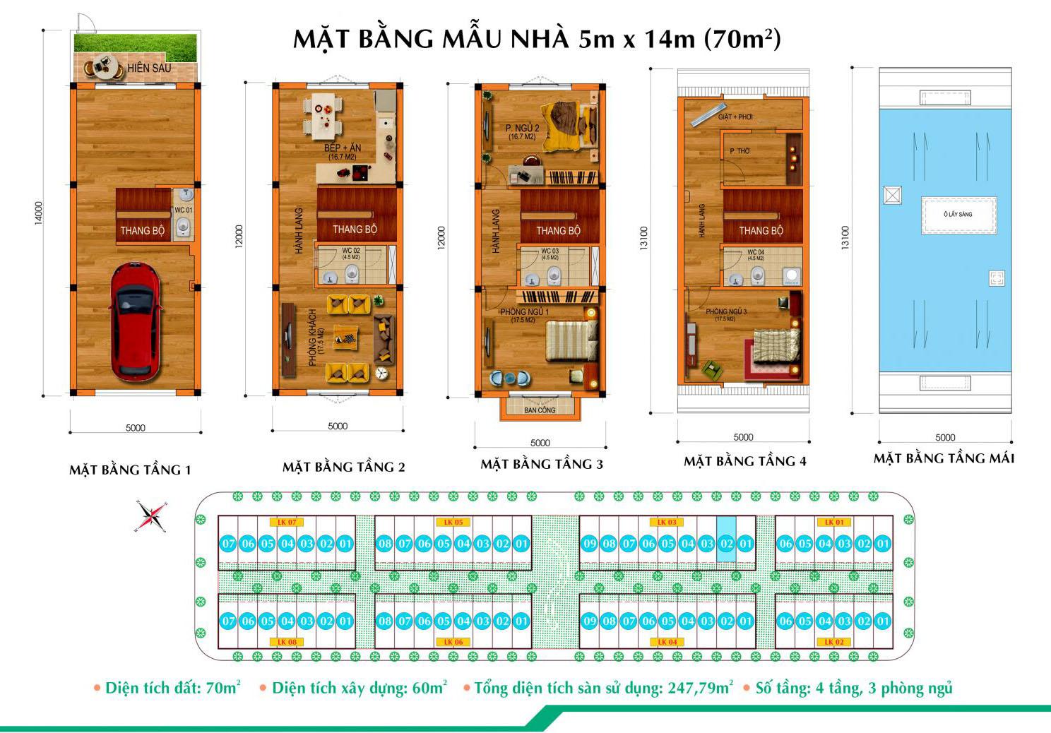 Thiết kế Liền kề Long Việt Riverside
