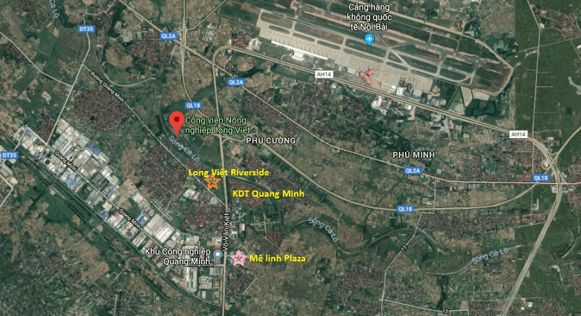 Vị trí dự án Khu đô thị Long Việt Riverside