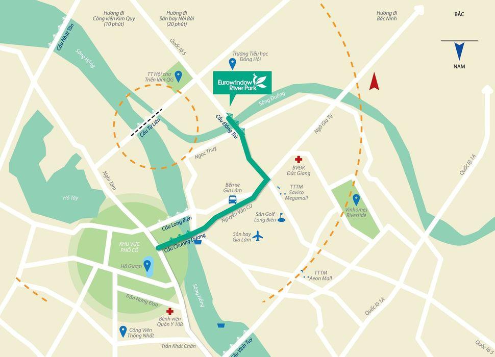 Vị trí dự án chung cư Eurowindow River Park