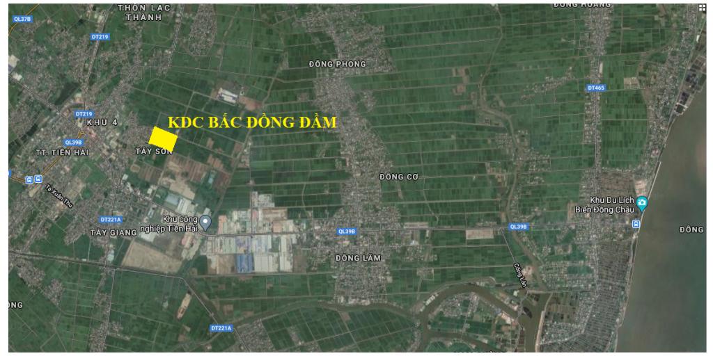 Vị trí dự án Khu dân cư Bắc Đồng Đầm
