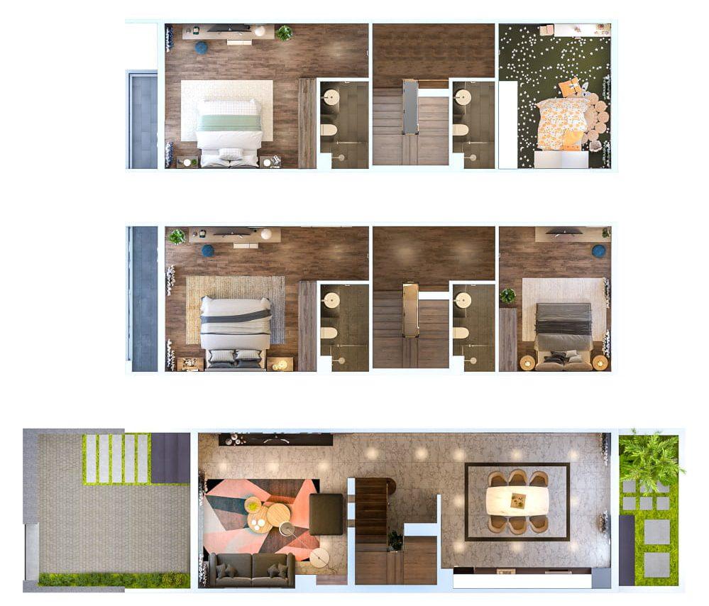 Thiết kế mẫu Liền kề vườn 37 Hud Sơn Tây