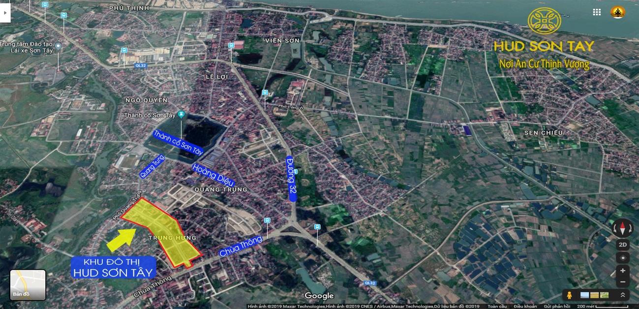 Vị trí dự án khu đô thị Hud Sơn Tây