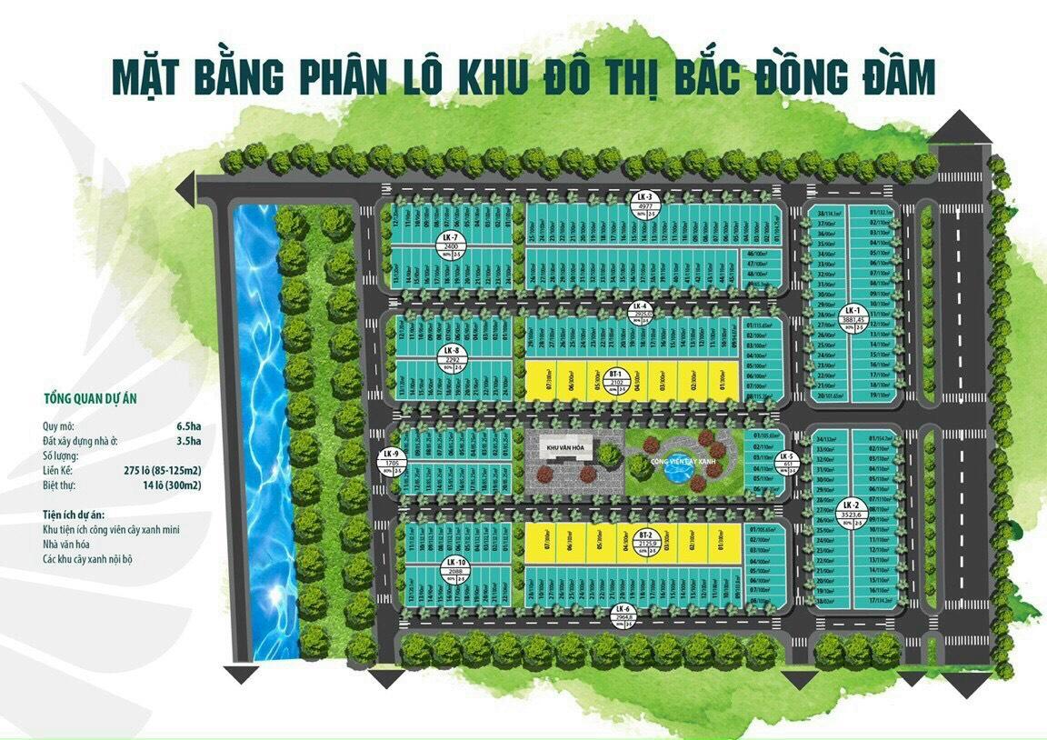 Đất đấu giá khu dân cư Bắc Đầm Đồng, Tiền Hải, Thái Bình