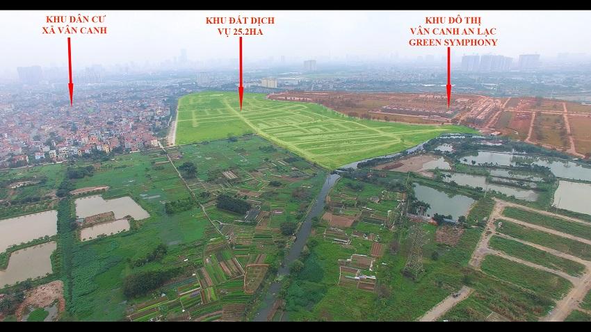 Đất dịch vụ vân canh 25,2 ha